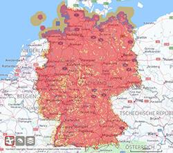 Vodafone Mobilfunk Netzabdeckung: 4G LTE, 3G UMTS/HSDPA, 2G GSM/EDGE
