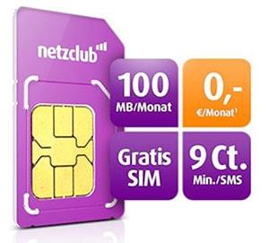 Kostenlose netzclub SIM-Karte