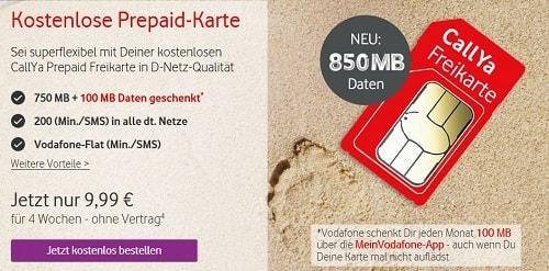 Kostenlose Vodafone SIM Karte