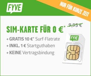 FYVE gratis SIM-Karten Aktion
