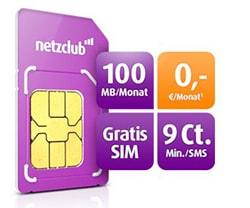 netzclub Angebot im Dezember 2016 - Gratis SIM-Karte